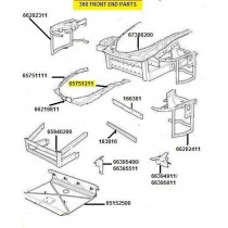 [65751211] L.H. Fender wall support (Pattern)