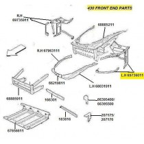 [69736011] L.H FRONT SIDE FRAME (Pattern)