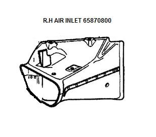[65870800] R.H AIR INTAKE (Pattern)
