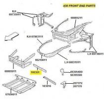166301 FRONT UPPER CROSS MEMBER (PATTERN)