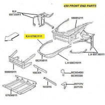 [67963111] R.H FENDER SUPPORT WALL (Pattern)
