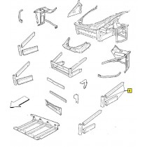 [68885800] 5) COMPLETE L.H FRONT LATERAL FRAME (Pattern)