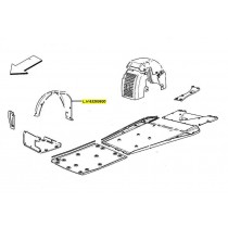 [65260600] D) L.H. FRONT WHEELHOUSE GRAVEL GUARD  (Pattern)