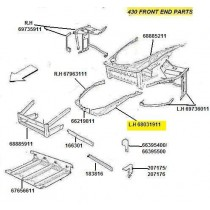 [68031911] L.H FENDER SUPPORT WALL (Pattern)